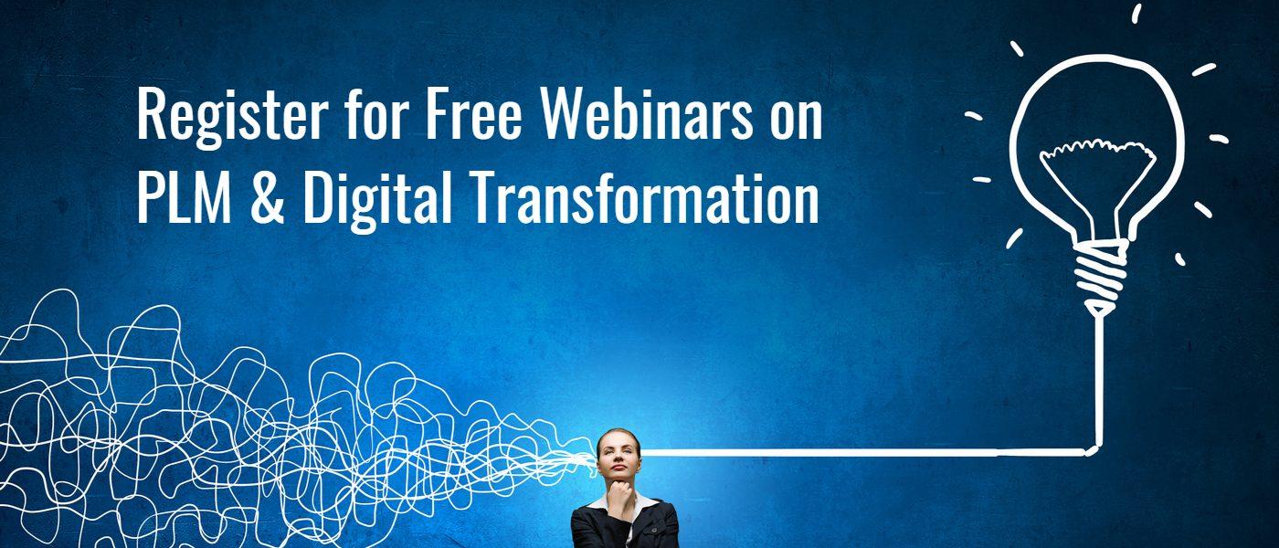 webinars on plm & digital transformation